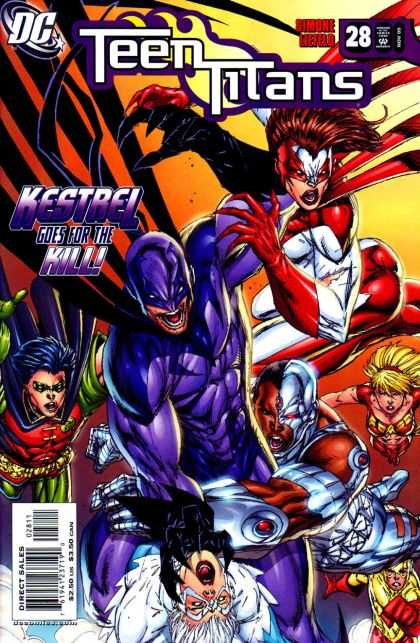 Teen Titans (2003) 28 - Dc - Superheroes - Kestrel Goes For The Kill - Fight - Number 28 - Rob Liefeld