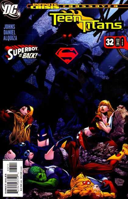 Teen Titans (2003) 32 - Dc - Superboy Is Back - Approved By The Comics Code Authority - Infinite Crisis - Direct Sales - Kevin Conrad