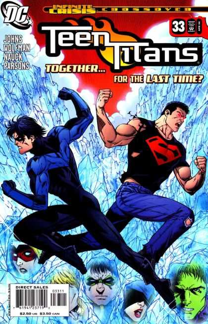 Teen Titans (2003) 33 - Infinite Crisis Crossover - Togetherfor The Last Time - Superman - Ice - Johns Wolfman Nauck Parsons - Richard Bonk