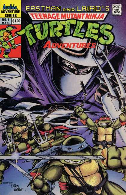 Teenage Mutant Ninja Turtles Adventures 2 1 - Ninja Turtles - Archie Adventures Series - Weapons - Guy In Mask - Knives