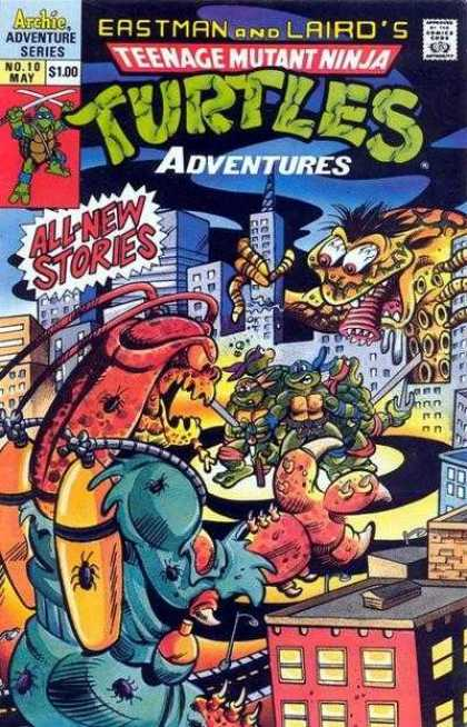 Teenage Mutant Ninja Turtles Adventures 2 10 - Eastman And Lairds - Archie Adventure Series - No 10 May - All-new - Turtles