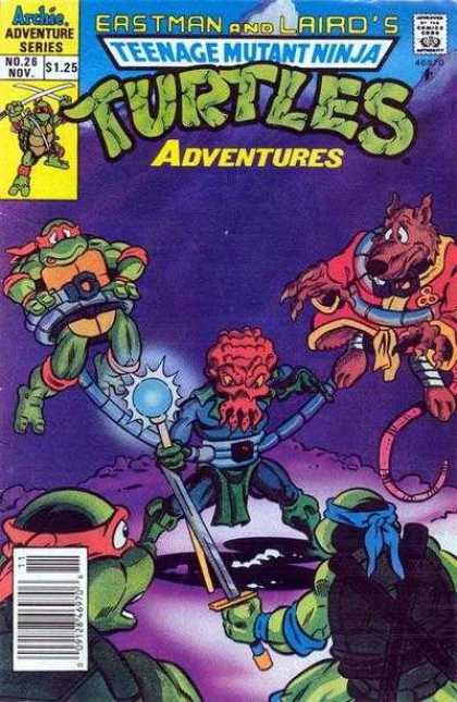 Teenage Mutant Ninja Turtles Adventures 2 26 - Turtles - Mask - Sword - Fox - Monster