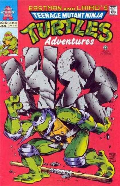 Teenage Mutant Ninja Turtles Adventures 2 40 - Eastman And Laird - 40 - Archie - Stick - Weight
