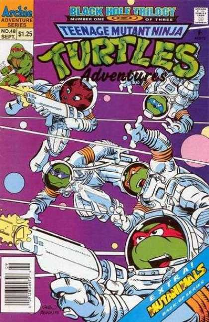 Teenage Mutant Ninja Turtles Adventures 2 48 - Archia Adventure Series - Number One Of Three - Black Hole Trilogy - Extra Mutanimals - Back-up Series