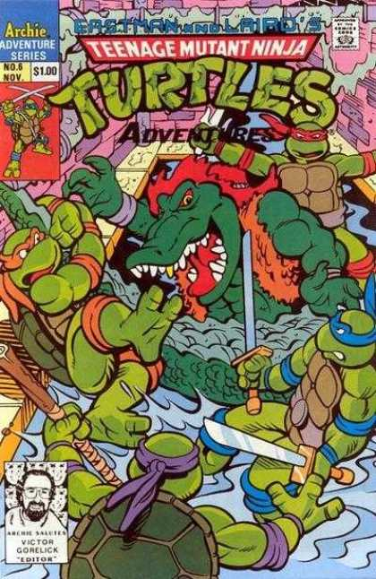 Teenage Mutant Ninja Turtles Adventures 2 6 - Turtles In Trouble - Mighty Fight - Right Is Might - Might Is Right - Snarl In A Brawl