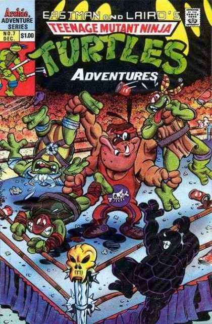 Teenage Mutant Ninja Turtles Adventures 2 7 - Eastman And Lairds - Skeleton - Fighting - Inside - Felldown