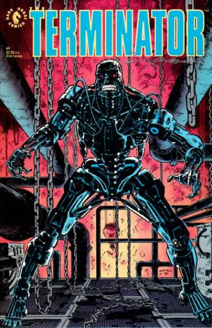 Terminator (1990) 4 - Robot - Chains - Fire - Pipes - Factory