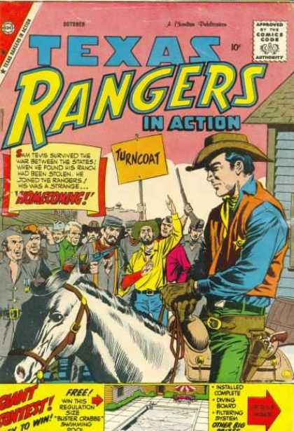 Texas Rangers in Action 18 - Horse - People - Gun - House - Saddle