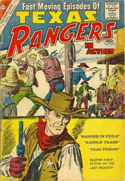 Texas Rangers in Action 23 - Cowboys - Revolvers - Cowboy Hats - Gun Fight - Sombrero