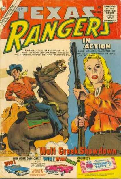 Texas Rangers in Action 24 - Gun - Horse - Woman - Man - Cowboy