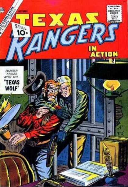 Texas Rangers in Action 30 - Texas Wolf - Jail - Prisoner Steals Gun - Criminal - Attempted Escape