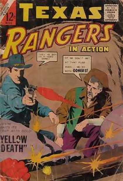 Texas Rangers in Action 44 - Cowboy - Gun - Goners - Yellow Death - Cave