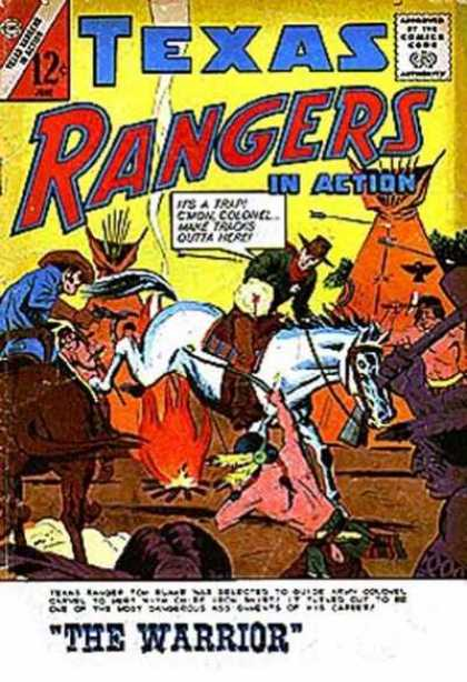 Texas Rangers in Action 45 - Texas Rangers - Harses - Guns - Fighting - Arrows