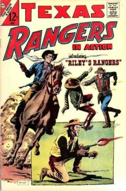 Texas Rangers in Action 60 - Riley Rangers - Cowboy On Horse - Fighting Cowboys - Man On One Knee - Man Shooting Gun