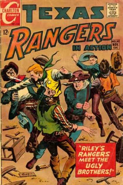 Texas Rangers in Action 63 - Action - Charlton Comics - Cowboys - Fighting - Rileys Rangers