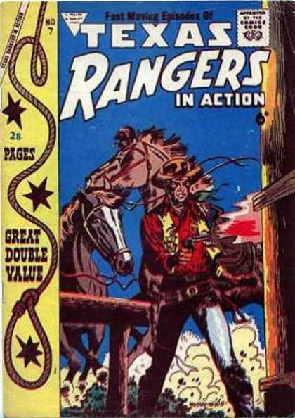 Texas Rangers in Action 7 - Horses - Cowboy - Gun - Hat - Lasso