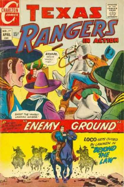 Texas Rangers in Action 77 - Cowboy - Nra Comic - Gunfighters - Rangers On Enemy Ground - Loco Beyond Law