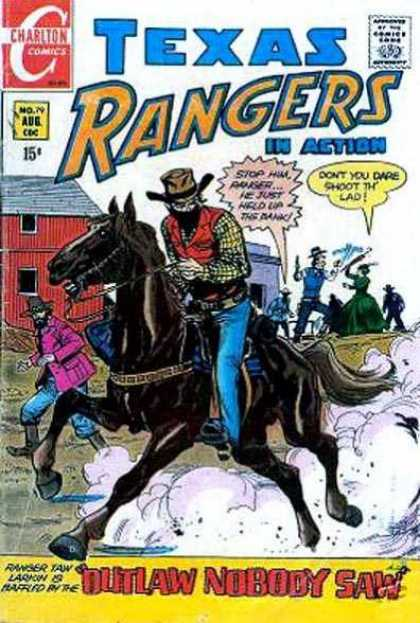 Texas Rangers in Action 79 - Texas - Rangers - In Action - Horse - Outlaw Nobody Saw