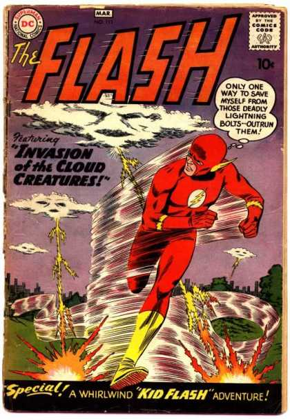 The Flash (1959) 111 - The Flash - March 1959 - Cloud Creatures - Dc Comics - Special Kid Flash Adventure