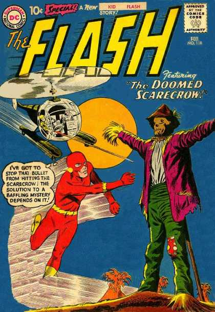 The Flash (1959) 118 - The Doomed Scarecrow - Feb - Bullet - Helicopter - Mystery