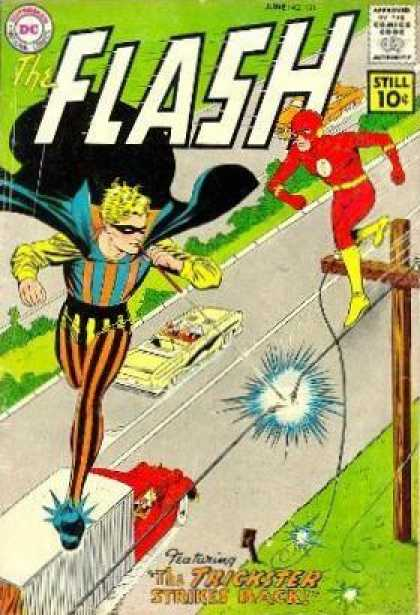 The Flash (1959) 121 - Dc Comics - Flash - Trickster - Back - Strikes