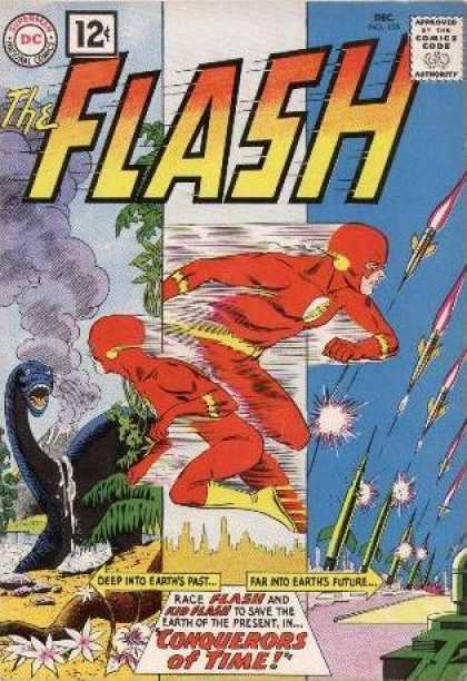 The Flash (1959) 125 - Dinosaur - Rockets - Time Travel - The Flash - Earth