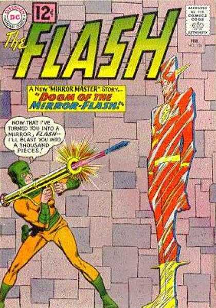 The Flash (1959) 126 - Mirror Master - Doom Of The Mirror-flash - Turned You Into A Mirror - Missile - Bazooka