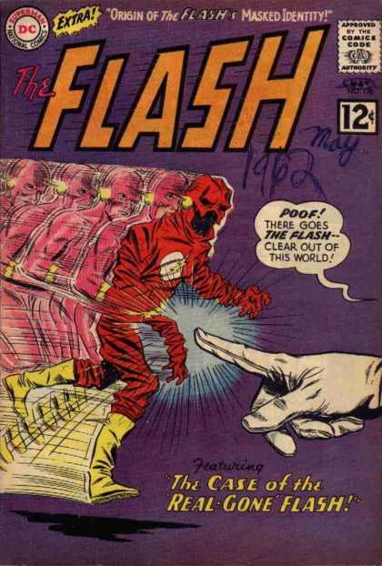 The Flash (1959) 128 - Finger - Yellow Shoe - Red Skeleton - Finger Of Lighting - A Old Man