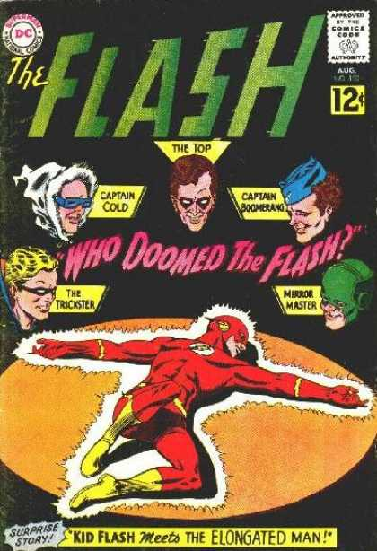 The Flash (1959) 130 - The Top - Captain Cold - Captain Boomerang - The Trickster - Mirror Master