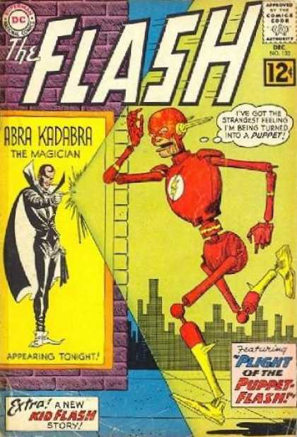 The Flash (1959) 133 - Abra Kadabra - Magician - Puppet - Transform - Kid