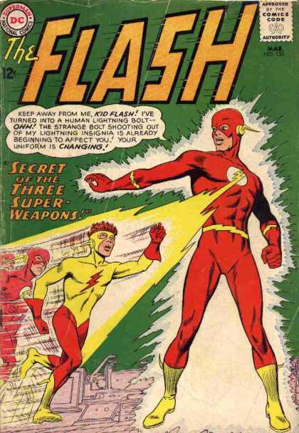 The Flash (1959) 135 - Secret Of The Three Superweapons - Kid Flash - Lightning - Yellow Uniform - Red Uniform
