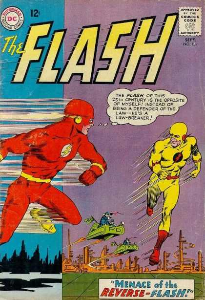 The Flash (1959) 139 - Yellow Reverse Flash - Defender Of Law - Red Suit Hero - Dc Comics - Menace Of Flash