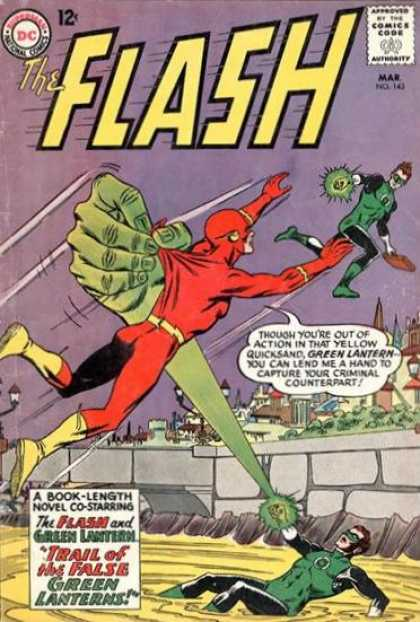 The Flash (1959) 143 - Attacked - Light - Flying - Got Caught - Green Lanterns