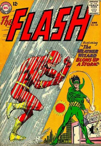 The Flash (1959) 145 - Dc - 12 Cents - Superhero - The Weather Wizard - June