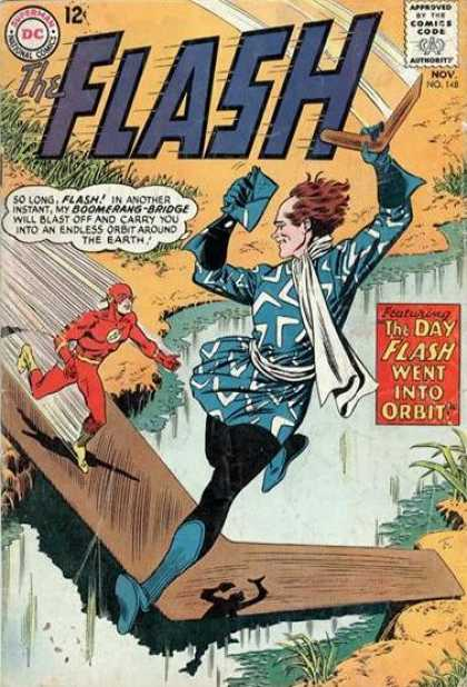 The Flash (1959) 148 - Flash - Boomerang - The Day Flash Went Into Orbit - Dc Comics - Nov