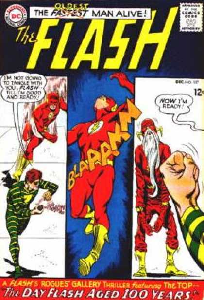 The Flash (1959) 157 - A Superhero Deflated - The Slowest Man Alive - Can We Rebuild Him - Its A Blue Day For Our Red Hero - Looks Like His Days Are Numbered