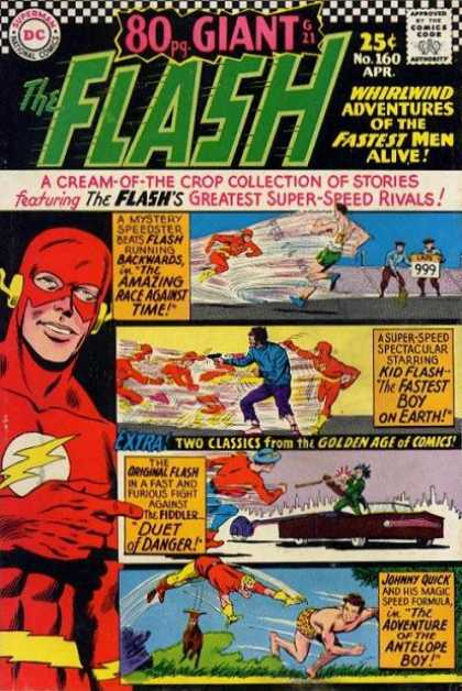 The Flash (1959) 160 - Dc Comics - Fastest Man Alive - Kid Flash - Johnny Quick - Antelope Boy