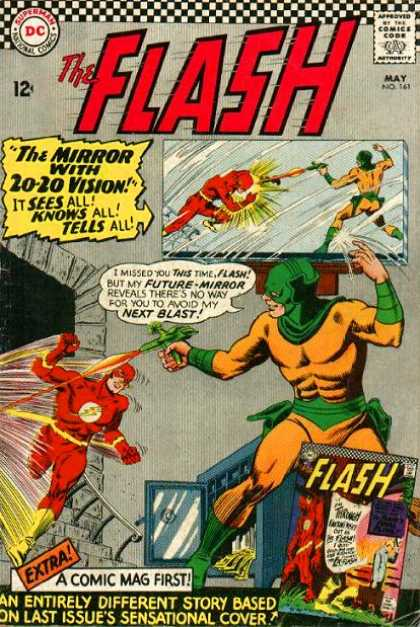 The Flash (1959) 161 - Flash - Dc - The Mirror With 20-20 Vision - Mirror - May 1959