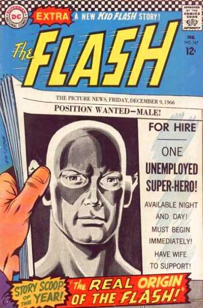 The Flash (1959) 167 - For Hire - Unemployed Superhero - Comics - Dc - Kid Flash