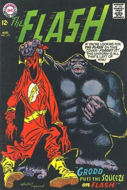 The Flash (1959) 172 - Superman - National Comics - Aug No172 - Approved By The Comics Code - Grodd Puts The Squeeze On Flash