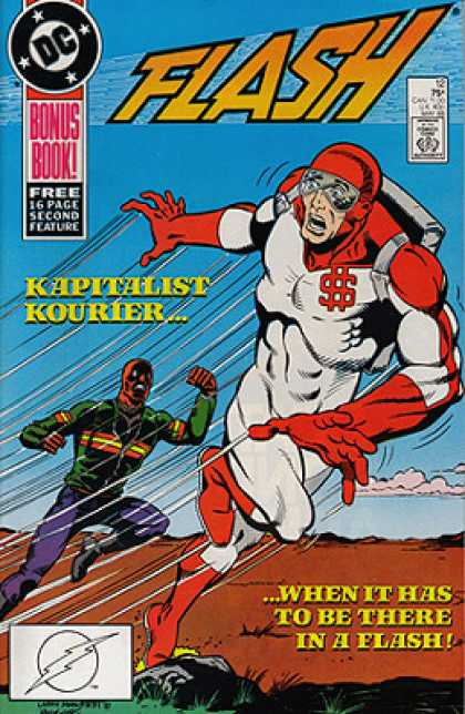 The Flash 12 - Approved By The Comics Code - Superhero - Bonus Book - Kapitalist Kourier - When It Has To Be There In A Flash