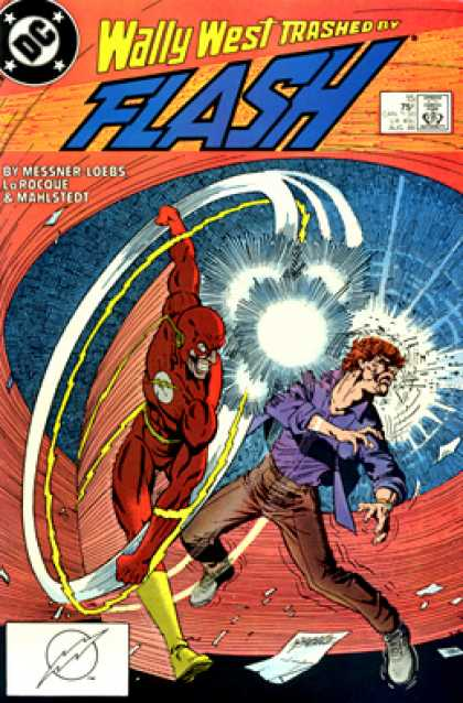 The Flash 15 - Wally West - Trashed - Punched - Loebs - Mahestedt
