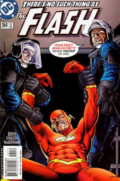 The Flash 164 - Fastest Man Alive - Lighting Bolt - Red Costume - Riot Gear - Police