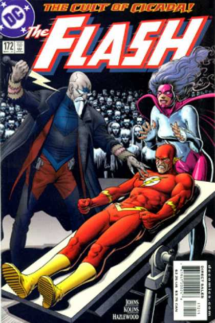 The Flash 172 - Dagger - Lightning - Crowd - Table - Cult