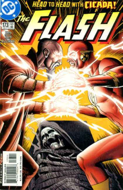 The Flash 173 - Head To Head - Cicada - Battle - Skeleton - Locked In Combat