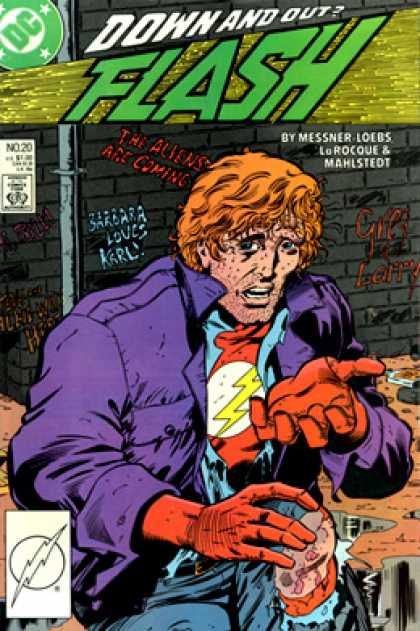 The Flash 20 - Dc - Down And Out - Approved By The Comics Code Authority - Messner Loebs - Mahlstedt