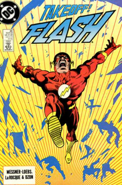 The Flash 24 - Dc Comics - Fast - Yellow - Blue - Red