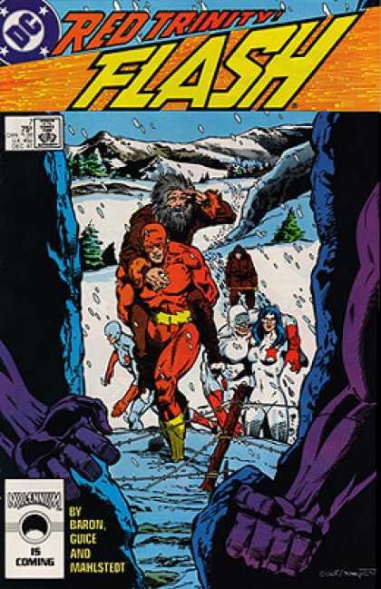 The Flash 7 - Snow - Moutains - Red - Purple - Stranded
