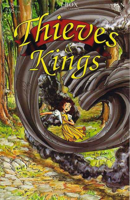 Thieves & Kings 15 - Black Smoke - Forest - Girl - Yellow Dress - I Box Publishing