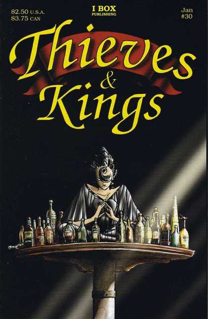 Thieves & Kings 30 - January - Table - Bottle - I Box Publishing - Woman